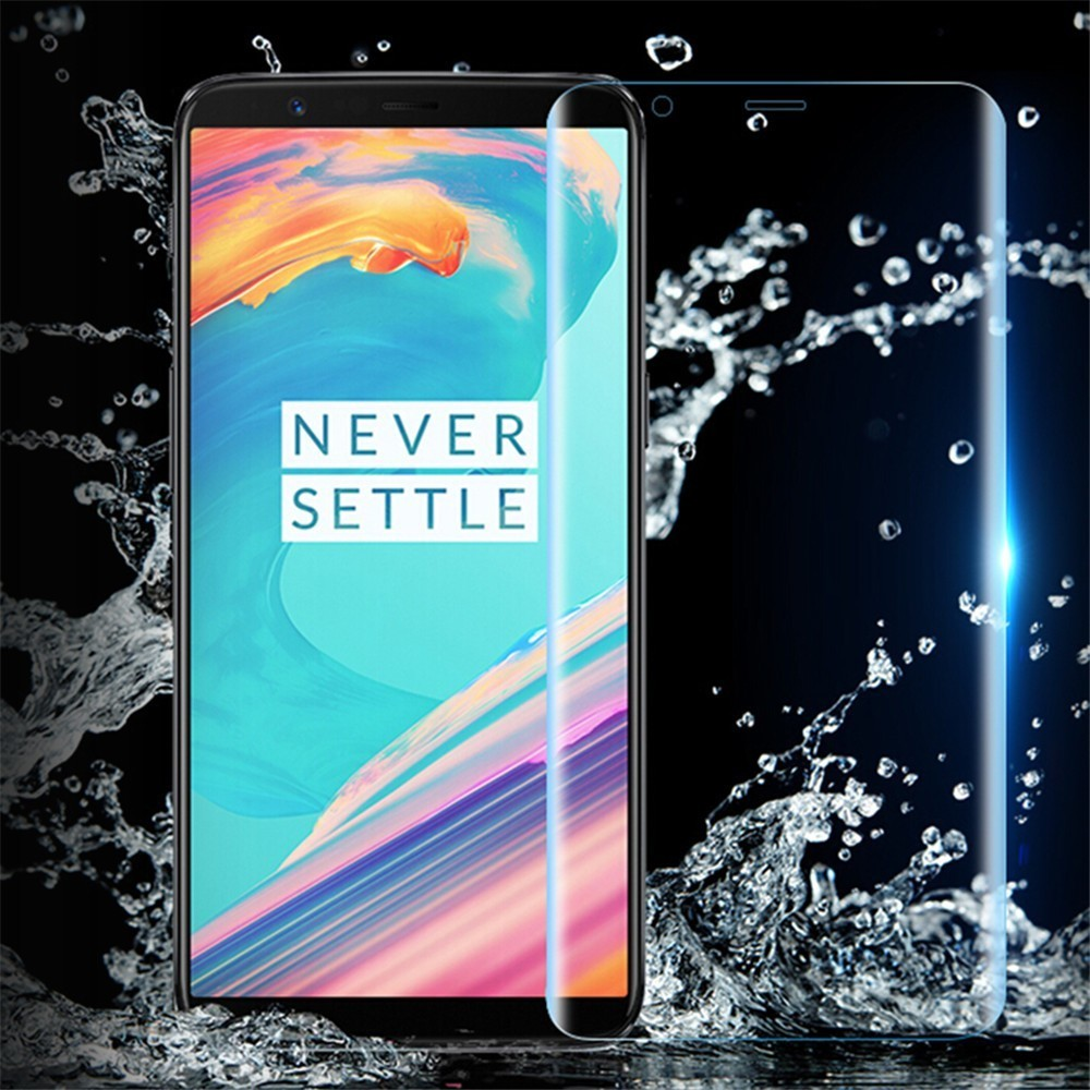 39D Full Cover Hydrogel Protective Film For Oneplus 6 6T 5T 5 7 7Pro Screen Protector On One Plus 6 Oneplus7 Pro Not Glass in Phone Screen Protectors from Cellphones Telecommunications