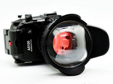for Sony A5100 16-50mm 130ft Waterproof Housing Case + Fisheye Wide Angle lens and Red Diving Filter 67mm