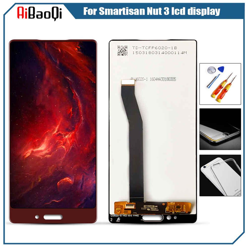 For Smartisan Nut 3 LCD Display Touch Screen Digitizer with Frame OC105 Display LCD Repair Replacement