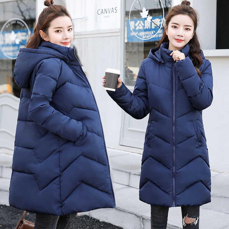2019 новый дизайн, осенне-зимнее пальто Женская модная зимняя куртка женская верхняя одежда теплые парки женский пуховик Плюс Размер 6XL