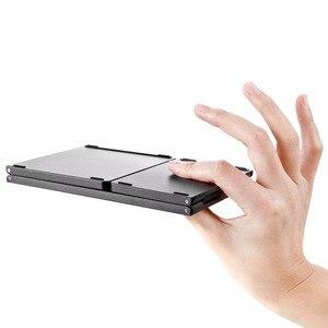 Image 4 - Kemile portátil duas vezes dobrável teclado bluetooth bt sem fio dobrável touchpad teclado para ios/android/windows ipad tablet