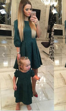 ФОТО family matching clothes patchwork mother daughter dresses 2016 autumn outfits mom and daughter dress clothes vestidos hot