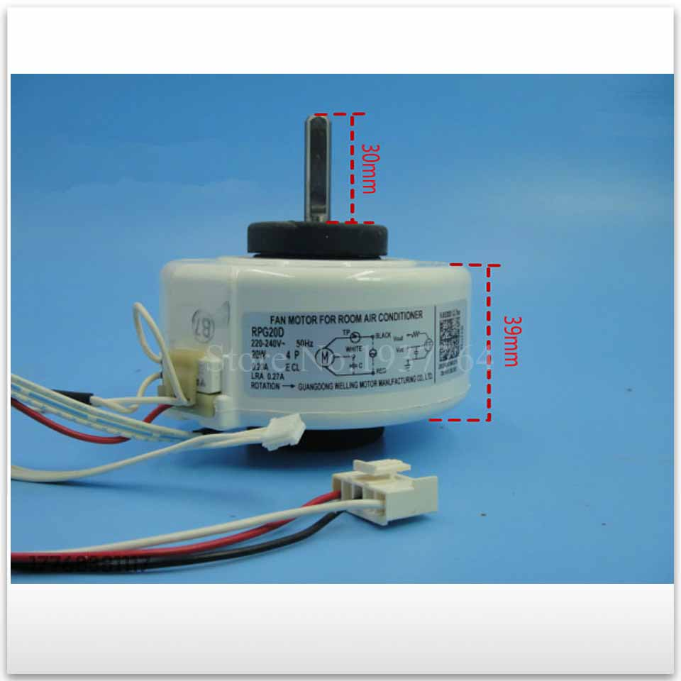 100% new for air conditioner motor RPG20D 20W Fan motor good working ups ems dhl 95% new good working for air conditioner inner machine motor fan ydk50 8g 3 7 line