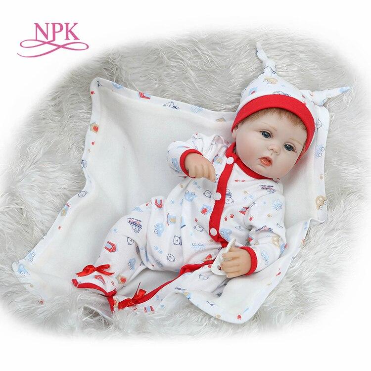 NPK 40 cm novo renascer bebês encantadores premie bebe realista boneca boneca bonito que joga brinquedos para as crianças de Aniversário Presente de Natal