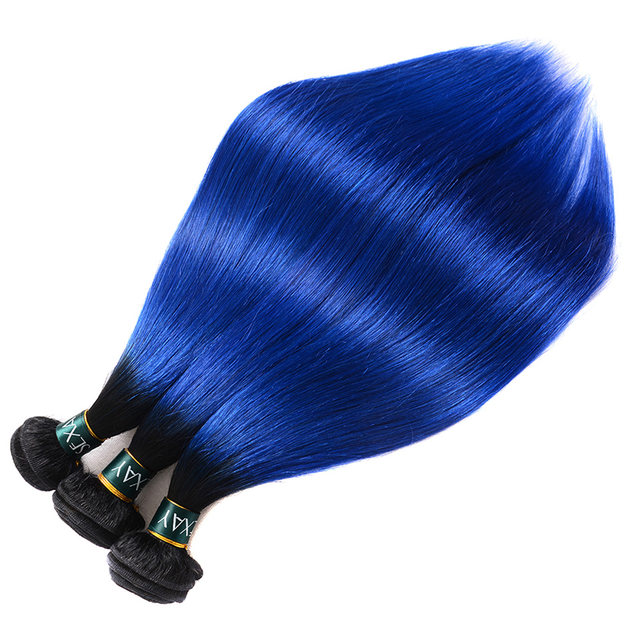 Online Shop Sexay Pre Colored 4 Bundles Straight Ombre Human Hair