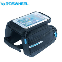 ROSWHEEL Waterproof Bicycle Bags Touchscreen For 5 7 Cell Phone Bike Bags Folding MTB Road Cycling