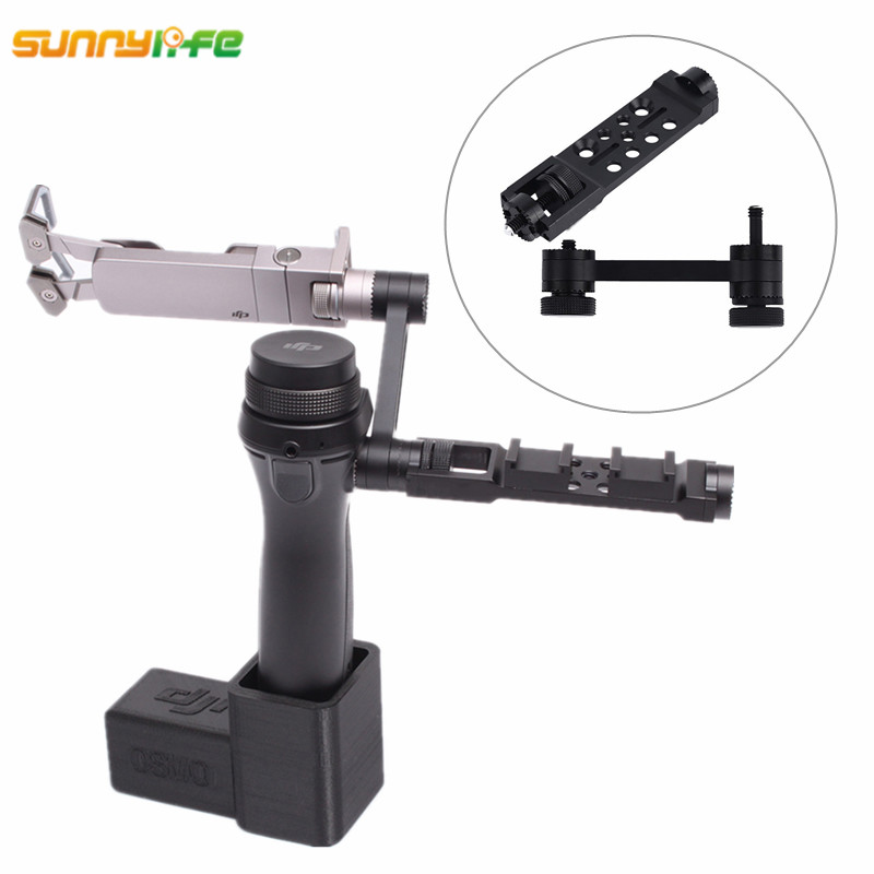 цена на Sunnylife DJI OSMO Accessories Straight Extension Arm + Mount Holder for DJI OSMO Mobile Gimbal Handheld Tripods Adapter