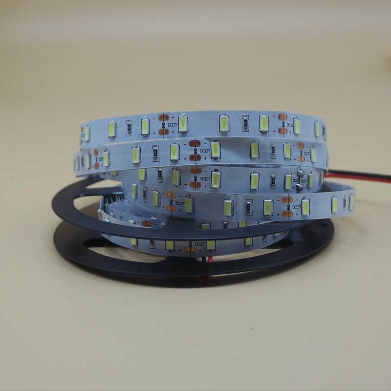 Tira de luces LED de 1/2/3/4/5M 5630 5730 SMD DC 12 V, tira de luces no impermeable, lámpara de cinta de diodo Fita, blanco cálido, azul, verde, rojo