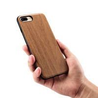 Fashion Wood Grain Silicone Case For Apple IPhone 7 7 Plus 360 Full Protection Housing Hard