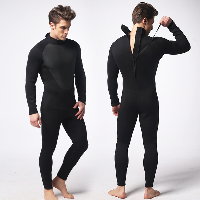 Black submersible service for 3m m surfing suit simple paragraph male wet suit thermal submersible one piece suit new arrival  tights