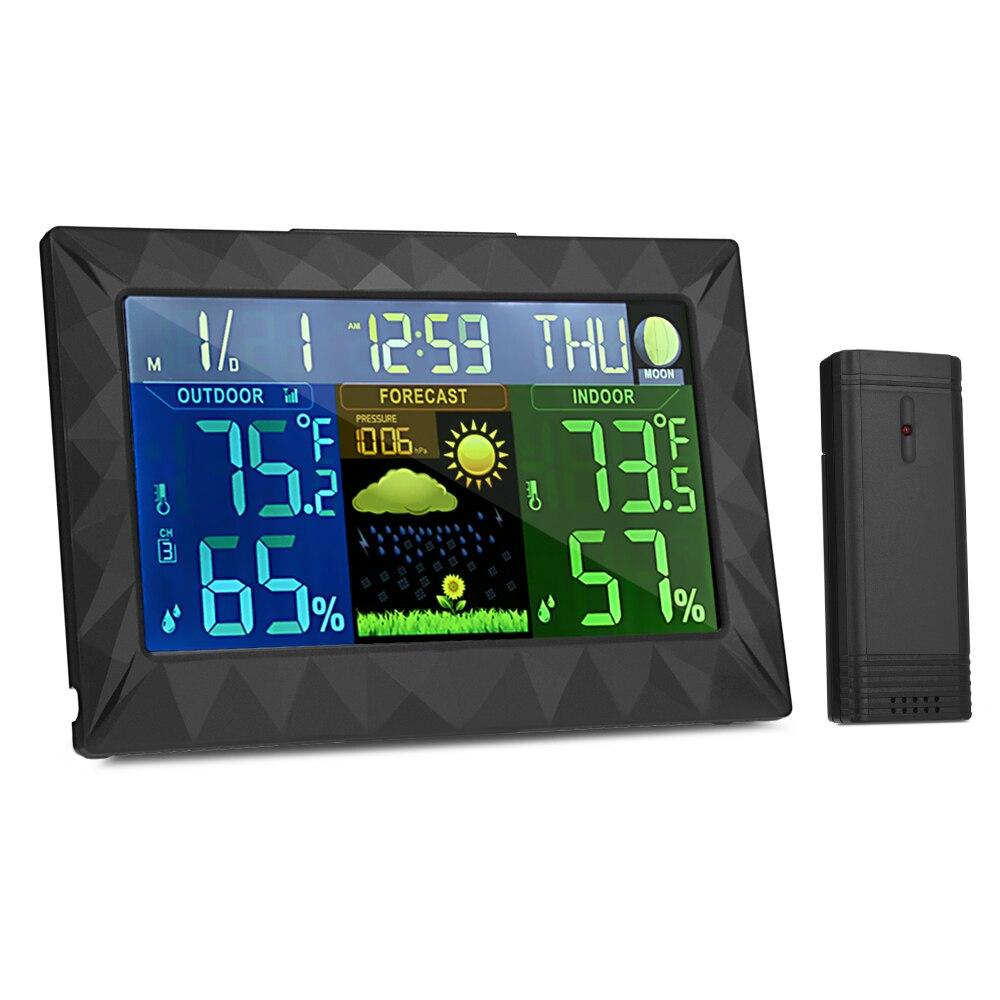 цена на Multifunctional Temperature Monitor Weather Station Monitor Wireless Colorful Digital Indoor Outdoor Barometric Wireless Sensor