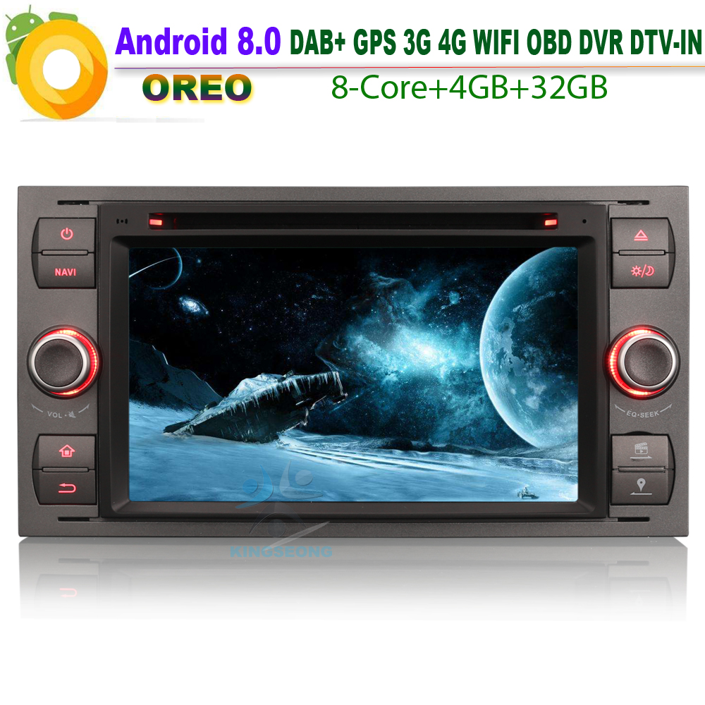 Details about Android 8.0 DAB+ GPS WiFi 4G BT SD Radio OBD Car DVD CD Player for FORD C-Max Connect Fusion Mondeo S-Max Sat Nav