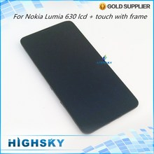Tested 4.5 inch Black Replacement Display For Nokia Lumia 630 LCD 635 N630 LCD With Touch Screen +  Frame 1 Piece Free Shipping