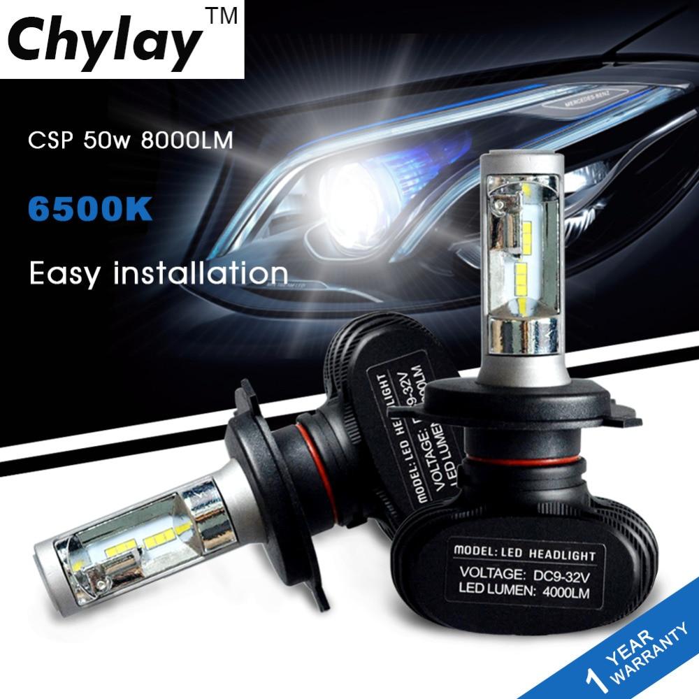 Un par H4 Bombilla LED 50W 8000lm 9003 HB2 Faros de coche de alta y - Luces del coche