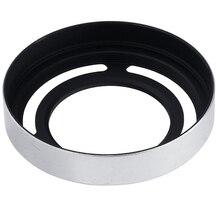 Ableto Metal Silver Camera Lens Hood LH-X10 Adapter Ring +