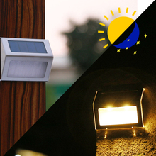 5F Good Quality Stainless Steel Outdoor Lighting Garden Decorate Wall Lamp Step Light Sensor LED Solar Light