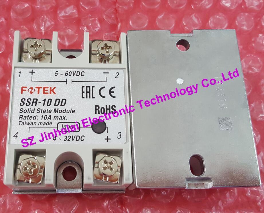цена на 100% New and original SSR-10DD FOTEK SOLID STATE RELAY 4-32VDC, 5-60VDC 10A