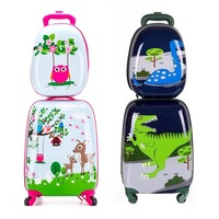18 Inch New backpack Cartoon Cute Animal Kids abs Rolling Luggage Set Spinner Children Suitcases Trolley Travel Bag Student