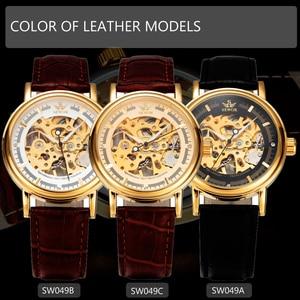 Image 5 - ผู้ชายนาฬิกาหรูSEWORนาฬิกาข้อมือยี่ห้อR EtroสายหนังโครงกระดูกนาฬิกาRelogioชายทองวิศวกรรมโครงกระดูกนาฬิกา