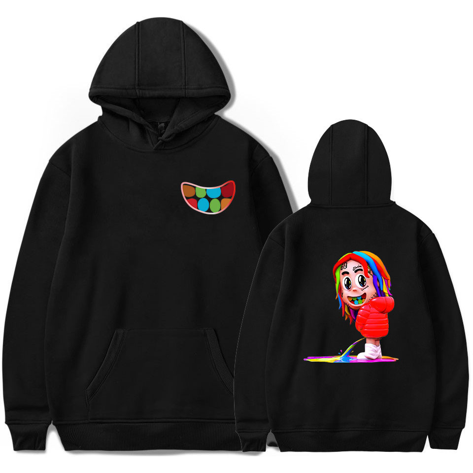 69 6ix9ine Cartoon Hoodie Men Hooded Sweatshirt Rapper Hip Hop Street Wear Sweatershirts Skateboard Male/Woman Funny Clothing