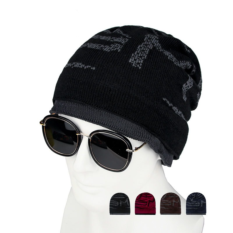 LCPEO cap and scarf cold warm leather winter hat for women men Knitted hat Bonnet Warm Cap   Skullies     Beanies