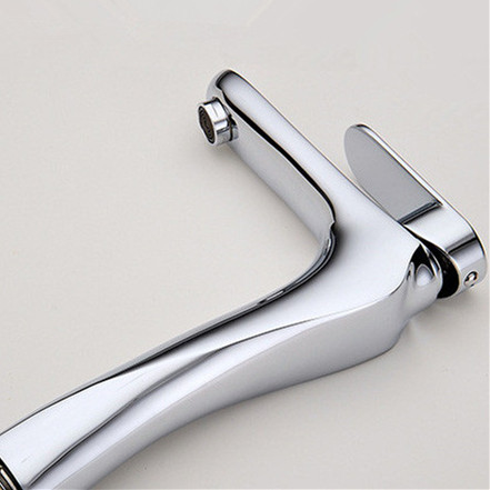 Basin Faucets Solid Brass Chrome Modern Bathroom Sink Faucet Single Handle Washbasin Hot Cold Mixer Water Tap Torneira 817-22L