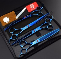FREE SHIPPING Set Of 8 Inch Professional Cat Dog Pet Grooming Scissors CUTTING THINNING CURVED Hair