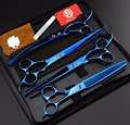 FREE SHIPPING set of 8 inch professional Cat & Dog Pet grooming scissors CUTTING & THINNING & CURVED hair shears pet salon