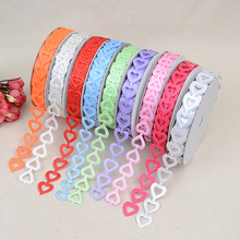 New Peach Heart Multicolor Embossed Belt Headwear Clothing Accessories 1.8cm * 20 Yards Ribbon Webbing Packaging Gift Box