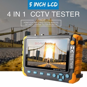 Image 2 - BOAVISION 5 אינץ TFT LCD 1080P / 5MP 4 ב 1 TVI AHD CVI אנלוגי טלוויזיה במעגל סגור בודק אבטחת מצלמה tester צג HDMI קלט אודיו מבחן