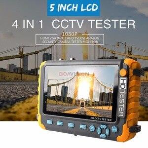 Image 2 - BOAVISION probador de CCTV analógico, 5 pulgadas, TFT LCD, 1080P/5MP, 4 en 1, TVI, AHD, CVI, Monitor de prueba de Entrada de Audio HDMI