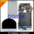 For 100% Tested Super AMOLED  For Samsung Galaxy S4 LCD i9505 I9506 Display LCD Touch Scree Digitizer Assembly frame +Back Cover