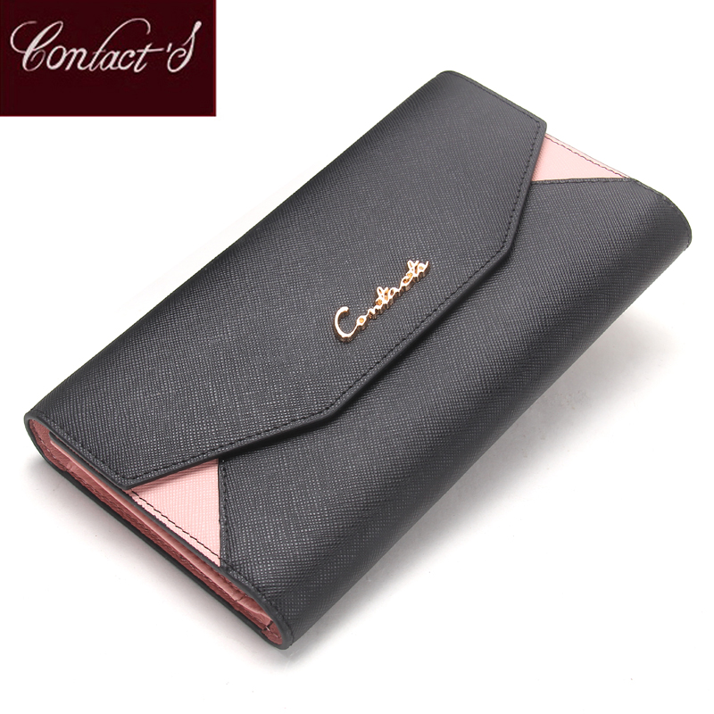 Contacts 2019 Women Wallet Clutch Genuine Leather Organizer Long Wallet Lady Envelope Coin Purse Patchwork Credit Card HolderContacts 2019 Women Wallet Clutch Genuine Leather Organizer Long Wallet Lady Envelope Coin Purse Patchwork Credit Card Holder