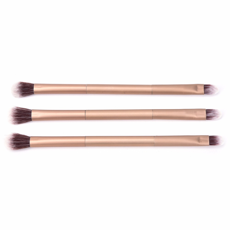 BBL 1pcs Professional Eye Makeup Brush Double Ended Metal Handle Premium Tapered Concealer Highlighter Eyeshadow Blending Brush