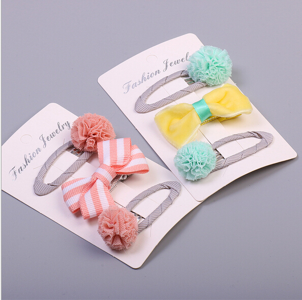 Free Shipping 2017 new Children bow Hair Pin girl lovely BB Clip Hairpins Hair Side Clips