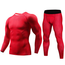 New winter thermal underwear set mens quick-drying antibacterial stretch trousers fitness