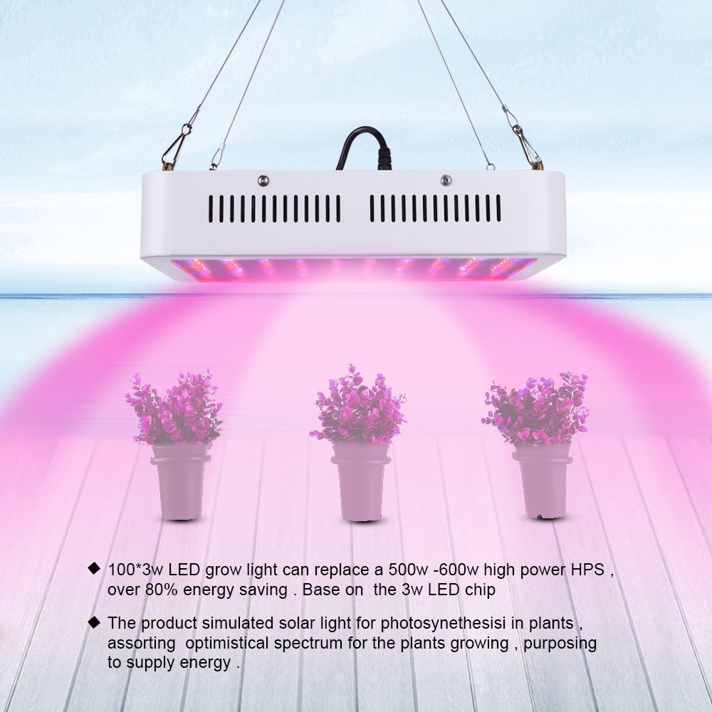 1pcs 300W LED Grow Light Full Spectrum Red/Blue/White/UV/IR Plant Light for Indoor Greenhouse Tent Plant Flower Grow Led Light led grow light 300w indoor plant grow lights full spectrum with uv