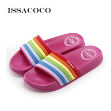 ISSACOCO 2019 Summer Shoes Woman Slippers Sandals Women Soft Bottom Home Casual Beach Bathroom Zapatillas Pantufa