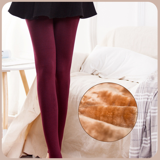 1249309e92a4f2 Brand PVSI Autumn Winter Women Pantyhose No-Feet Thicken Plus Velvet Warm  Tights Slim Hips