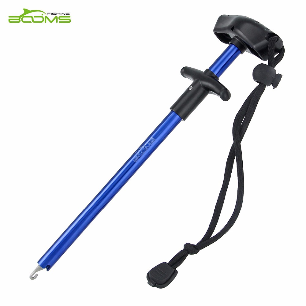 Booms Fishing R02 Easy Fish Hook Remover Squeeze-Out Fish Hooks New Fishing Tools Minimizing Injuries Aluminum Tube With Lanyard