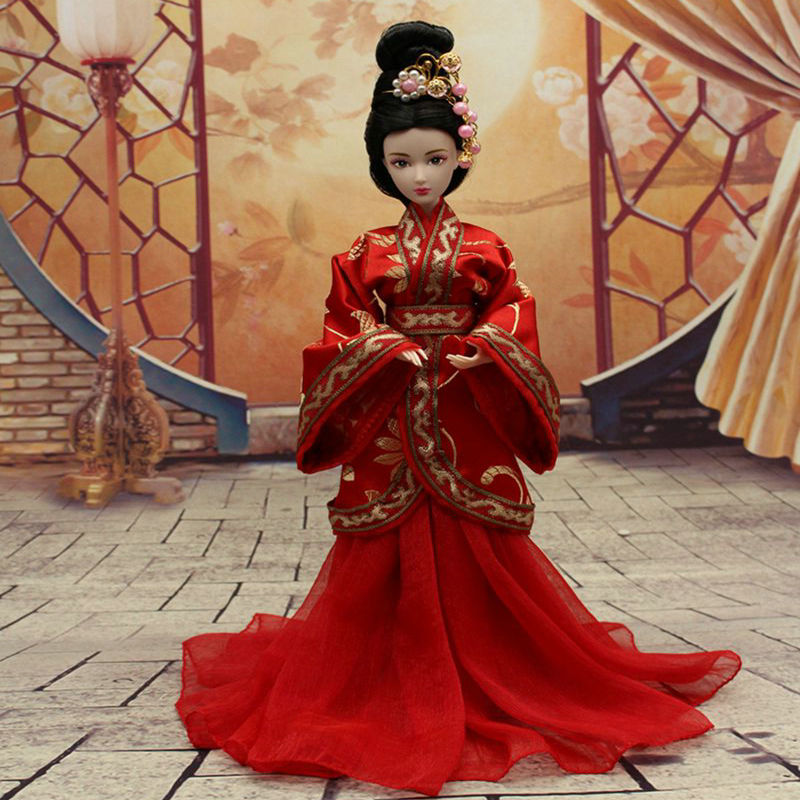 Handmade doll clothing Chinese Ancient Costume Clothes-HanFu for 29cm 1/6 doll or OB27 Bjd doll Dolls Accessories Toys Girl Gift american girl doll clothes halloween witch dress cosplay costume for 16 18 inches doll alexander dress doll accessories x 68