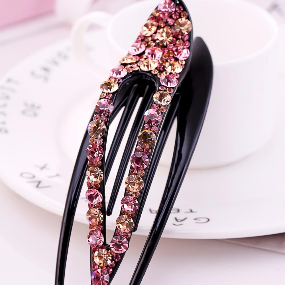 Luxury Headwear Rhinestone Claw Women Large Hairpin Hot Hair Clip Crystal Gift