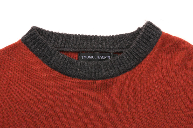 Men Winter Sweater Striped Pullover Mens Patchwork O-neck Knitting Sweater Male Winter Clothing Casual Loose Knitted Pullovers