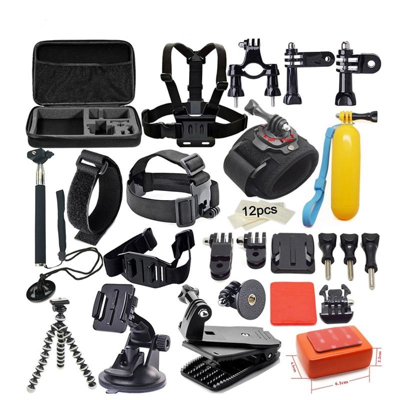 GoPro accessories 42 in 1 Set Family Kit Go Pro SJ4000 SJ5000 SJ6000 accessories package for GoPro HD Hero 1 2 3 3+ 4 xiaomi yi