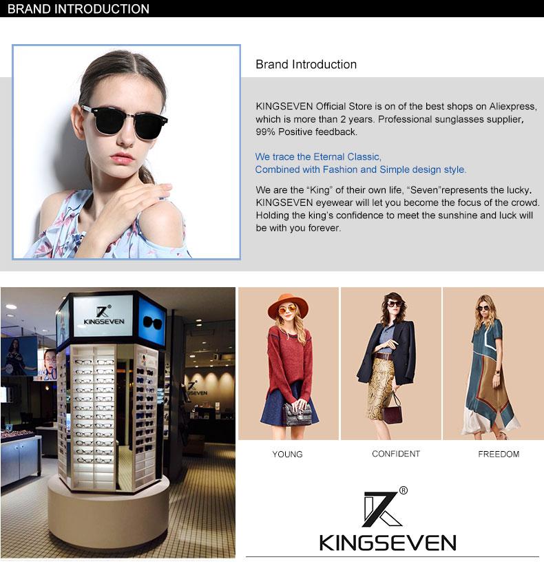 17 KINGSEVEN Retro Rivet Polarized Sunglasses Women Classic Brand Designer Sun glasses Eyewear Bridge Frame Oculos Gafas N7346 15