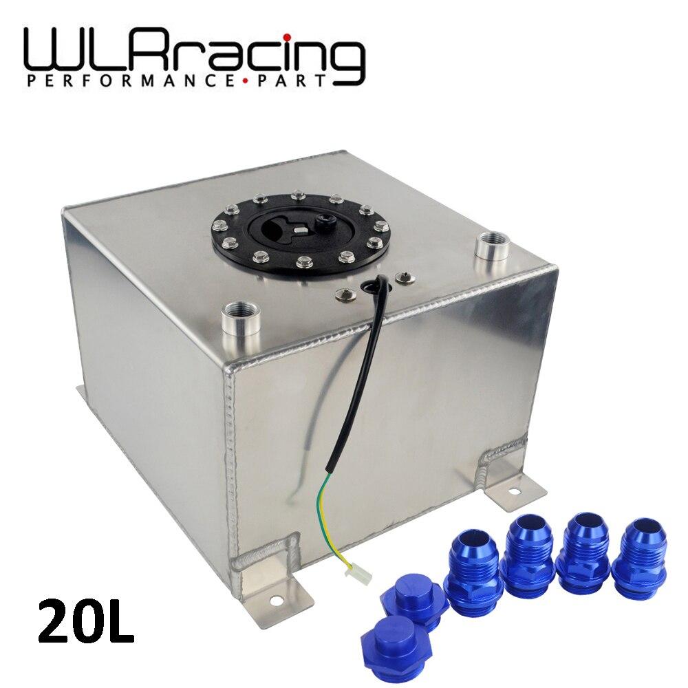 WLR RACING-20L réservoir de surtension de carburant en aluminium avec capteur pile à combustible 20L avec capuchon/mousse à l'intérieur WLR-TK39
