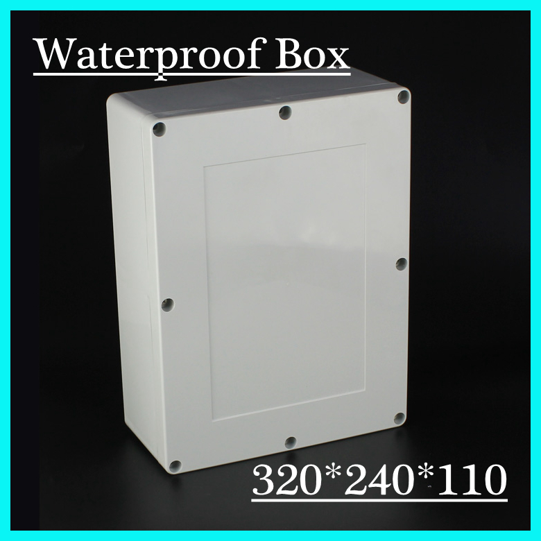 320*240*110mm Good Quality ABS Electronic Plastic Waterproof Enclosure Switch Enclosure 4pcs a lot diy plastic enclosure for electronic handheld led junction box abs housing control box waterproof case 238 134 50mm