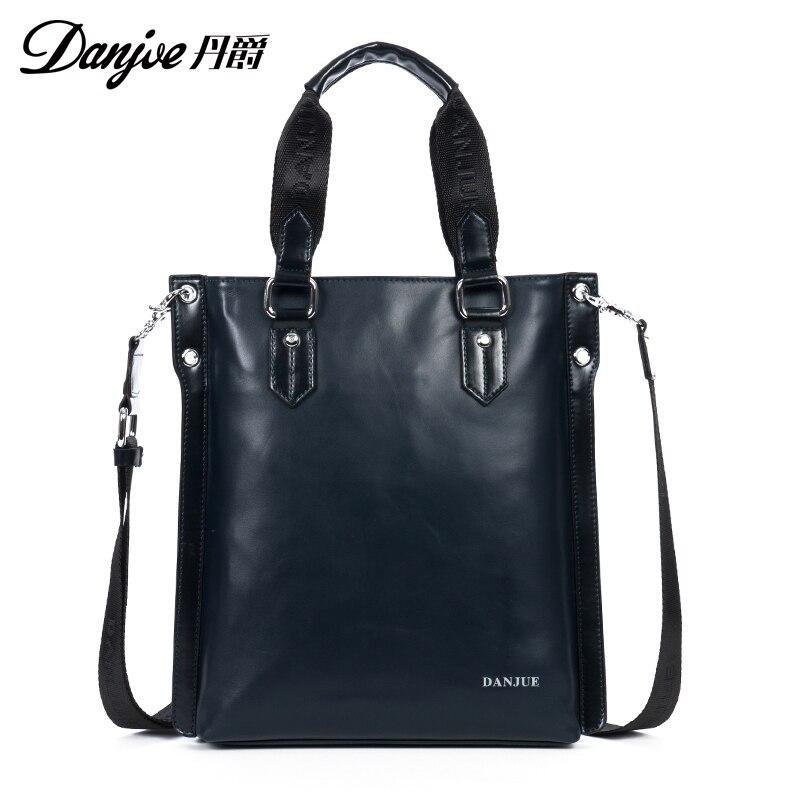 High Quality Fashion Messenger font b Bag b font Natural leather Business Shoulder font b Bag
