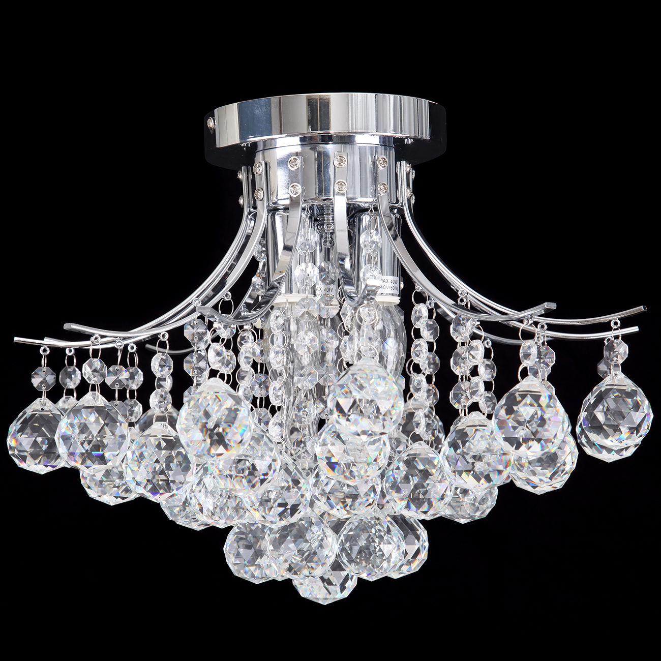 Crystal Chandelier Ceiling Light Pendant Lamp Lighting Flush Mount Bedroom