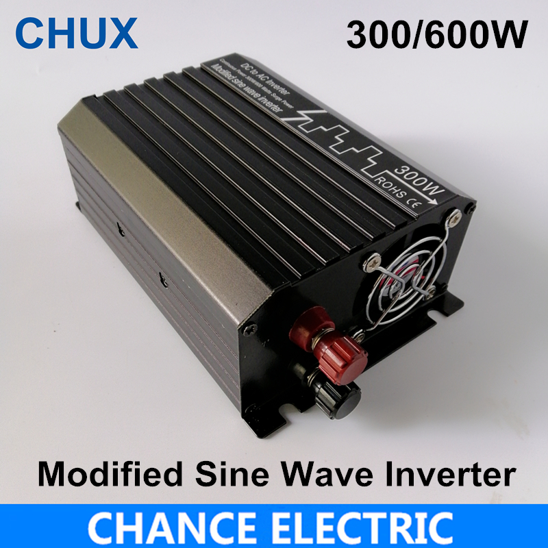 300W/600W Modified Sine Wave Inverter DC 12V 24V 48V to AC 110V 220V,Off Grid Inversor Portable 300W/600W Power Inverter modified sine wave inverter 300w off grid dc 12v 24v to ac 110v 220v smart series solar power 300w surge power 600w